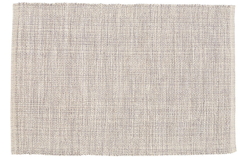 Marled Woven Cotton Rug, Gray