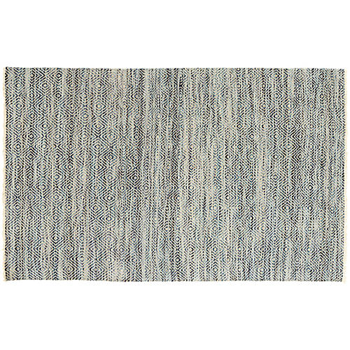 Jewel Jute Rug, Blue