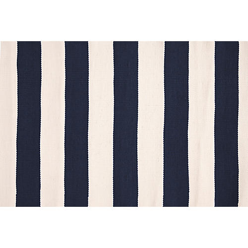 Catamaran Indoor/Outdoor Rug, Navy/Ivory