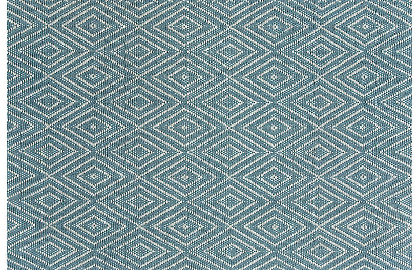 Diamond Indoor/Outdoor Rug, Slate/Light Blue