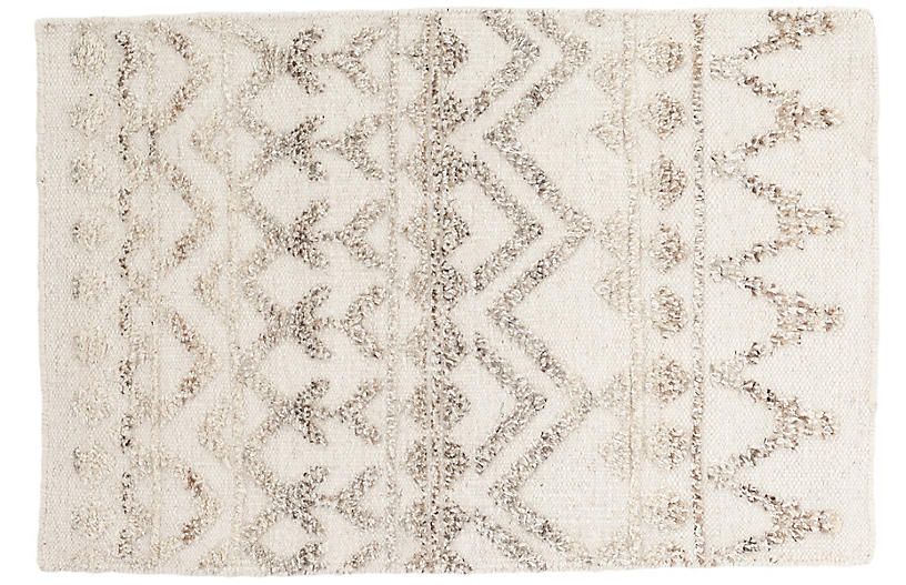 Venus Hand-Knotted Rug, Natural