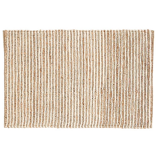 Twiggy Jute Rug, Natural/Ivory