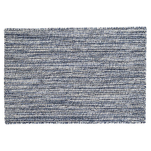 Bella Handwoven Rug, Navy