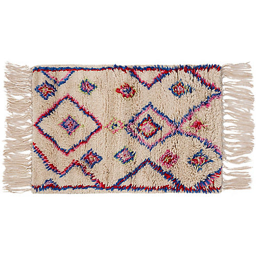 Tilda Hand-Knotted Rug, Pink/White