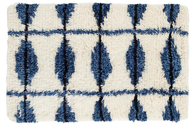 Noma Hand-Knotted Rug, Indigo
