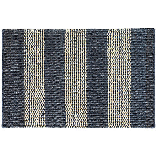 Rugby Jute Rug, Denim/Natural