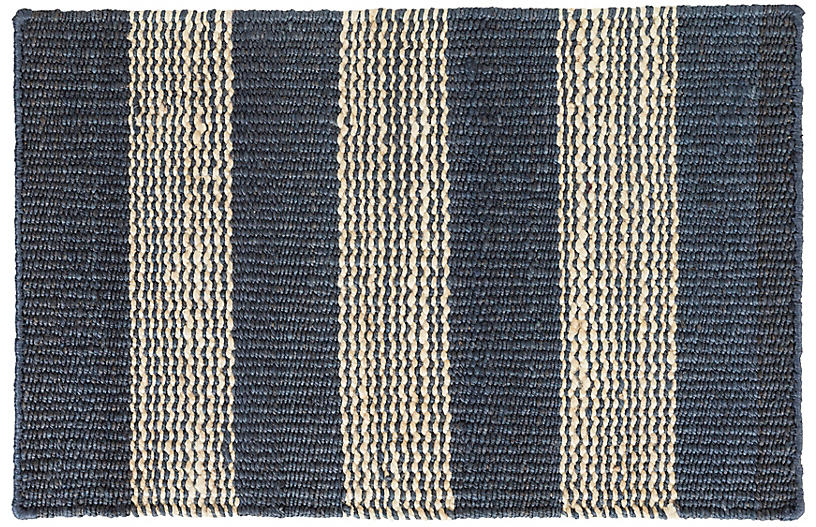 DASH & ALBERT - Rugby Jute Rug, Denim
