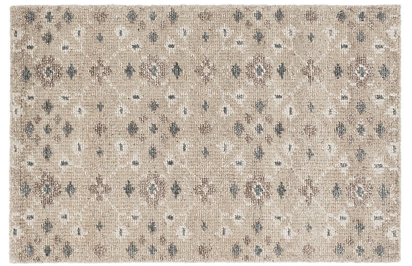 Florence Hand-Knotted Rug, Silver-Gray