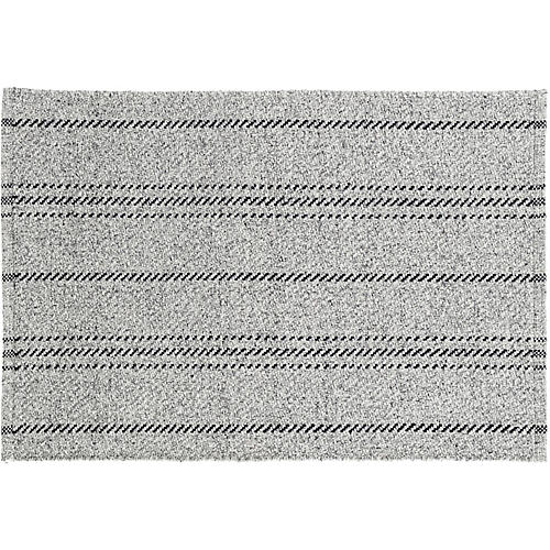 Melange Stripe Indoor/Outdoor Rug, Gray/Black