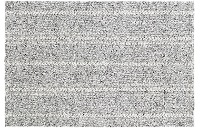 Melange Stripe Indoor/Outdoor Rug, Gray/Ivory