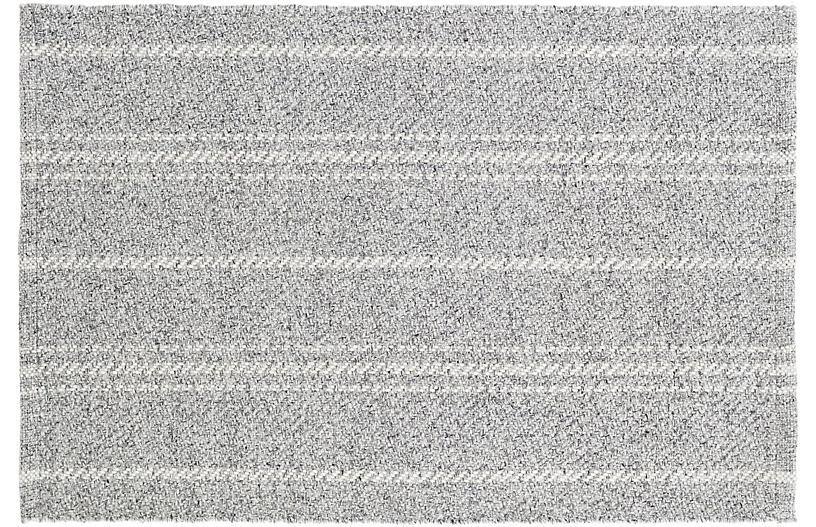 Melange Stripe Indoor/Outdoor Rug, Gray/Ivory