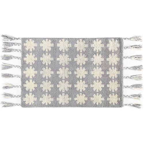 Nova Hand-Knotted Rug, Gray/White