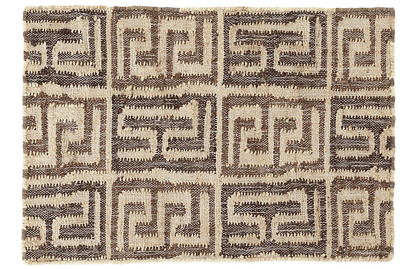 Auricula Jute Rug, Natural/Brown