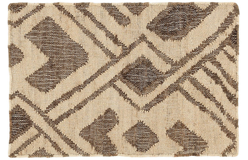 Zinnia Jute Rug, Natural/Oak