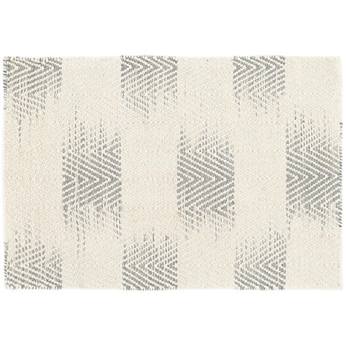 Tansy Handwoven Rug, Gray