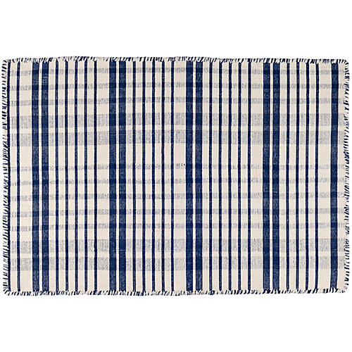 Guilford Handwoven Rug, Navy