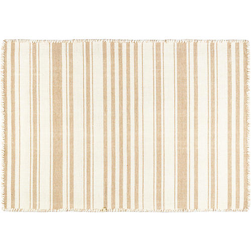 Hampshire Stripe Handwoven Rug, Wheat