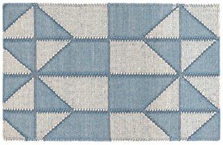 Ojai Handwoven Rug, Blue
