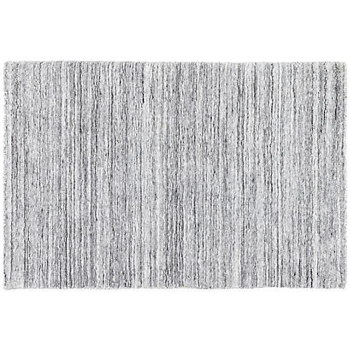 Nordic Hand-Knotted Rug, Gray