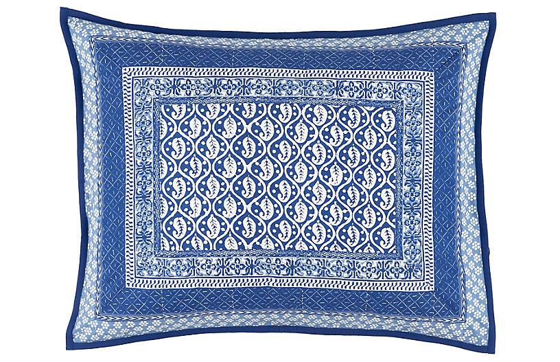 Batik Sham, Blue