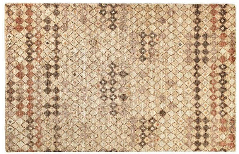 Sven Hand-Knotted Jute Rug, Brown/Neutral