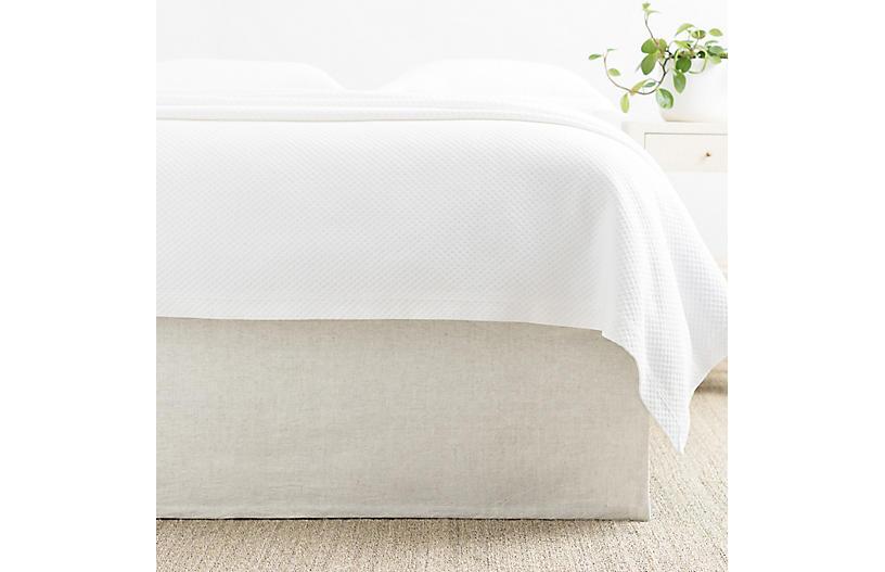Wilton Bed Skirt, Natural