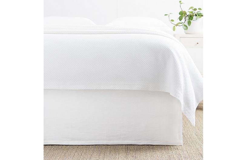 Wilton Bed Skirt, White