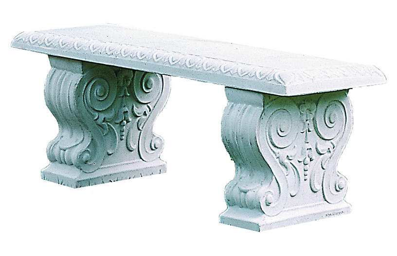 Traditional Outdoor Bench, Natural