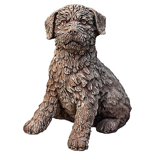 "13"" Terry Outdoor Statue, Brownstone"