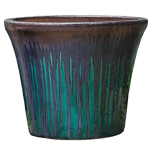Delphine Planter, Bronze Jade
