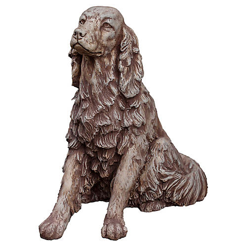 "22"" Prince Outdoor Statue, Brownstone"