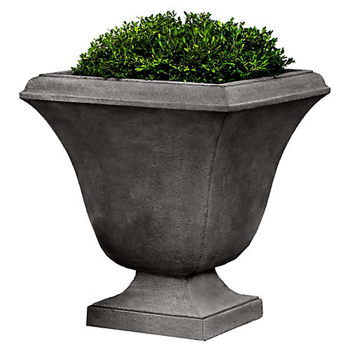 "24"" Trowbridge Outdoor Planter, Alpine Stone"