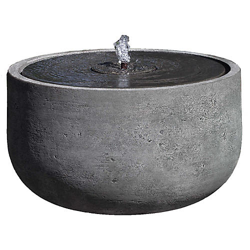 "28"" Echo Park Outdoor Fountain, Alpine Stone"