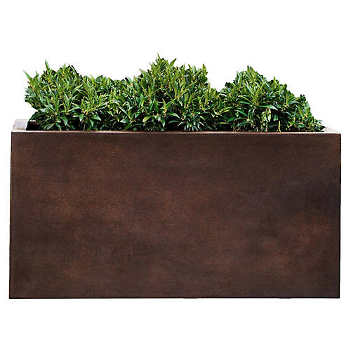 "28"" Sandal Outdoor Planter, Rust"