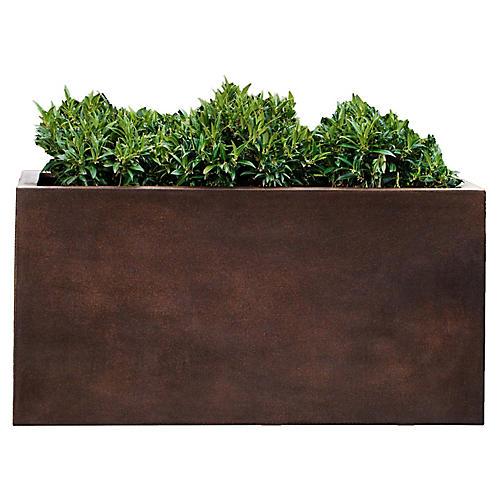 "28"" Sandal Outdoor Planter, Rust"