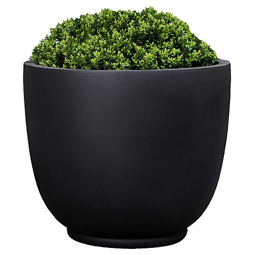 Danilo Outdoor Planter, Black Onyx