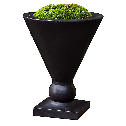 "15"" Manhattan Outdoor Planter, Black"