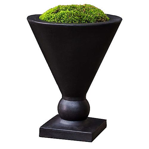 """15"""" Manhattan Outdoor Planter, Black"""