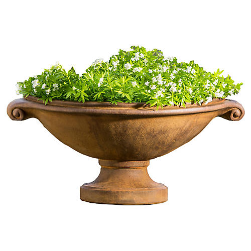 "26"" Medici Outdoor Planter, Rustic Iron"