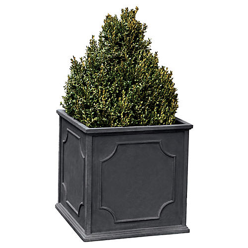 "19"" Cumberland Outdoor Planter, Lead"