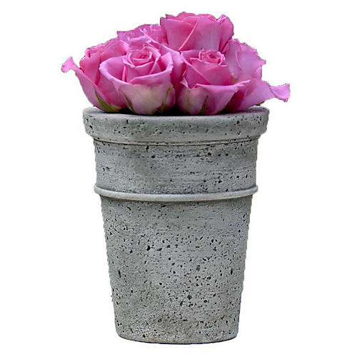 "8"" Nyles Outdoor Planter, Alpine Stone"