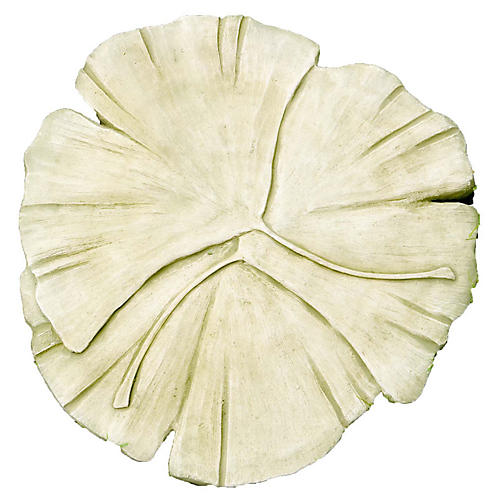 "19"" Gingko Stepping-Stone Accent, English Moss"