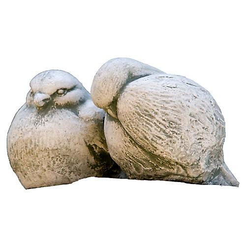"""6"""" Duet Outdoor Statue, Gray"""
