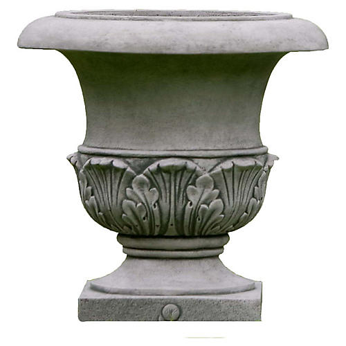 "17"" Williamsburg Acanthus Planter, Alpine Stone"