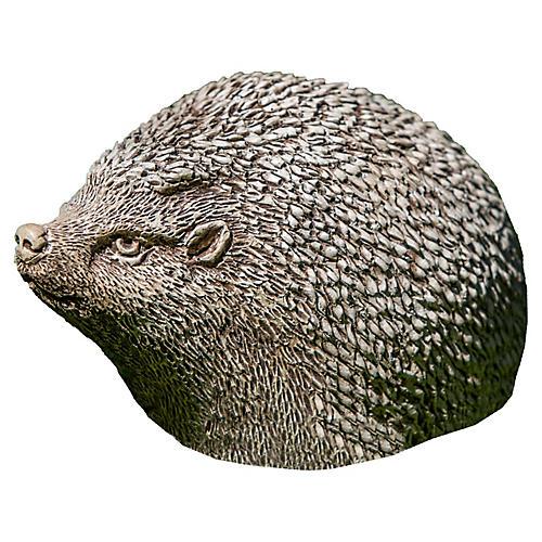 "7"" Hedgehog Outdoor Statue, Brownstone"
