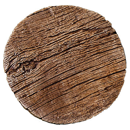 "16"" Faux-Bois Stepper Outdoor Accent, Brownstone"