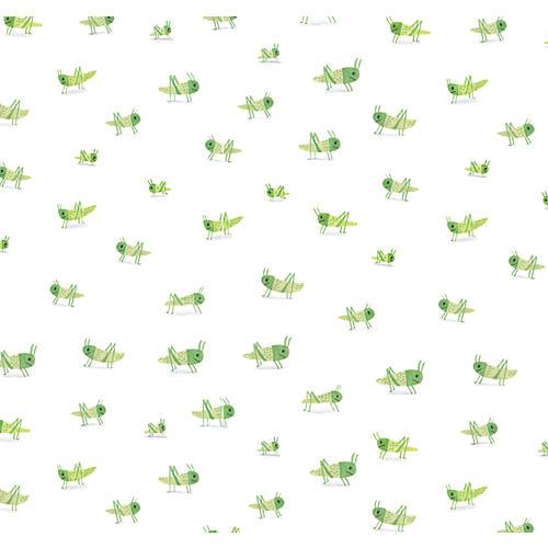 Grasshopper Wallpaper, White/Multi