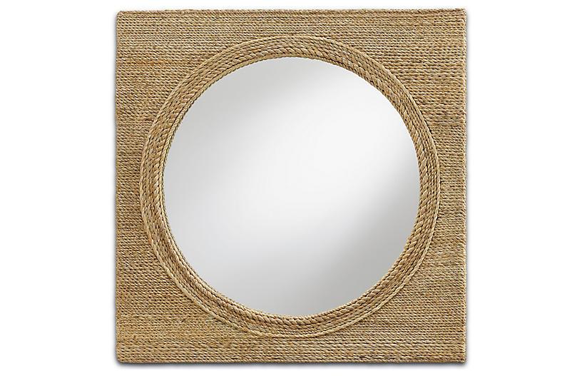 Tisbury Small Rope Mirror, Natural