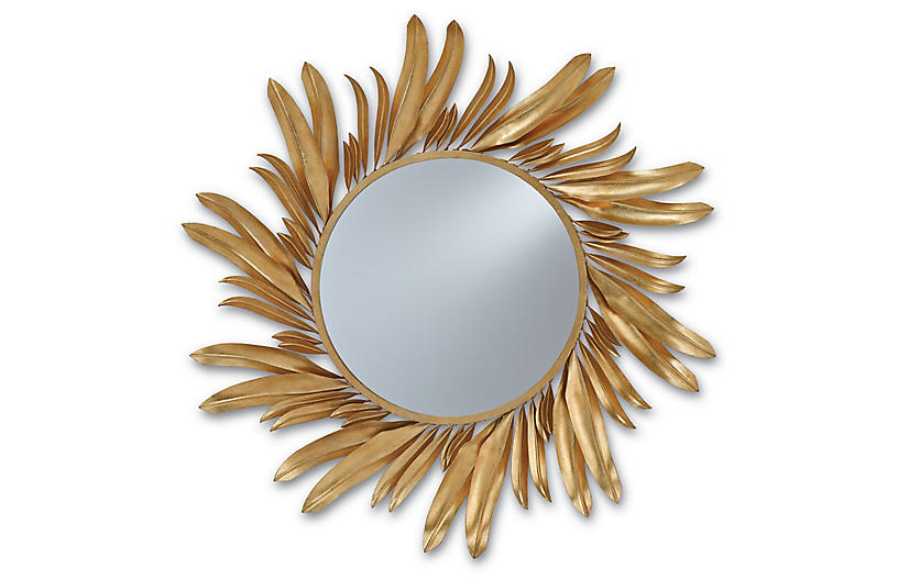 Folium Mirror, Gold Leaf
