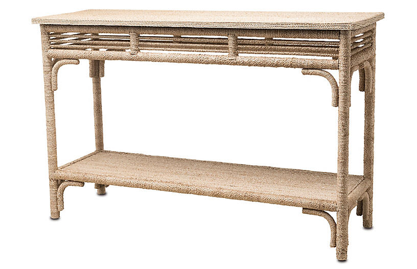Olisa Rope Console Table, Natural
